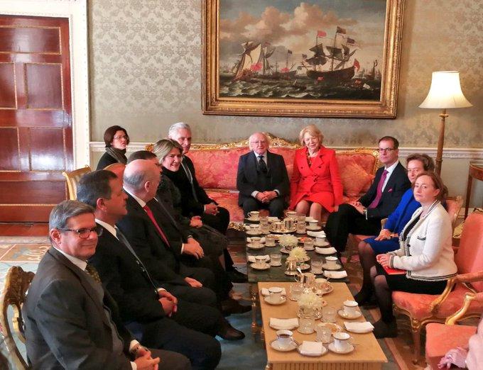 Presidentes de Irlanda y Cuba conversan en Dublín (+ videos)