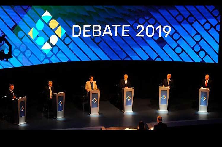 Crispado duelo electoral en último debate en Argentina