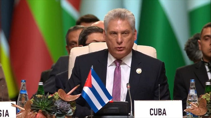 Presidente de Cuba denuncia politización de DD.HH. en el mundo