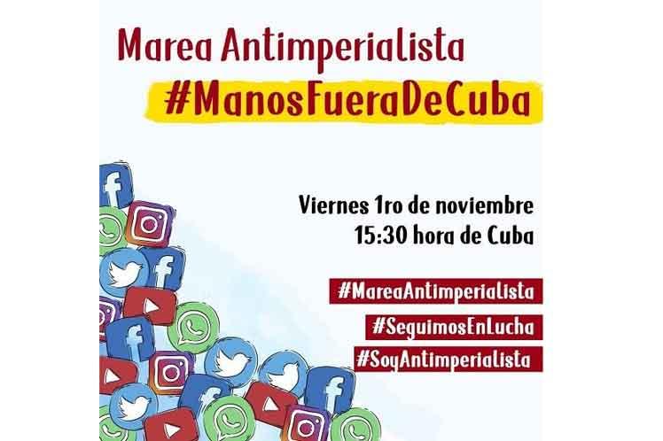 Convocan a Marea Antiimperialista en Cuba para promover solidaridad