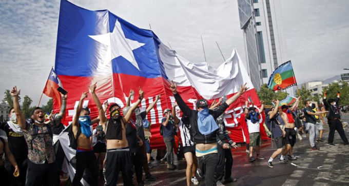 Chile en otra jornada de protestas contra el neoliberalismo