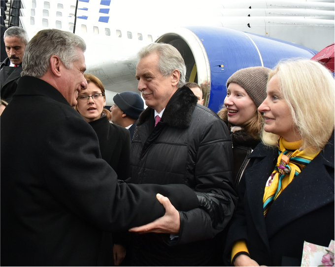 Presidente de Cuba en visita de trabajo a Moscú