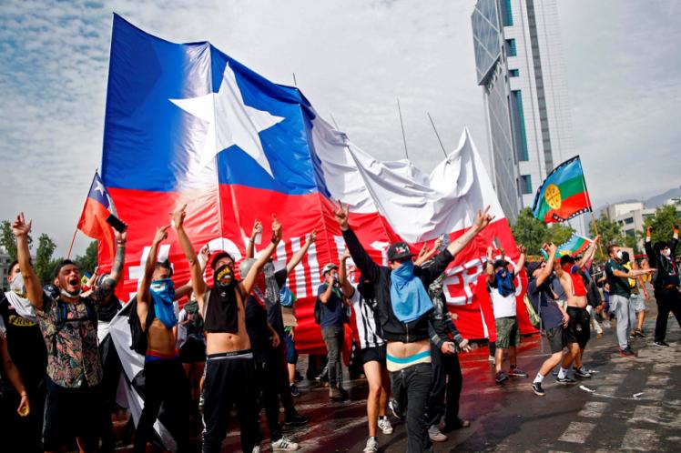 Nueva jornada de protestas en ciudades de Chile