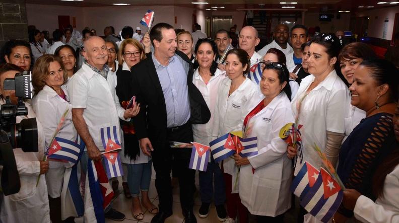 En Cuba primera brigada médica procedente de Ecuador (+fotos)