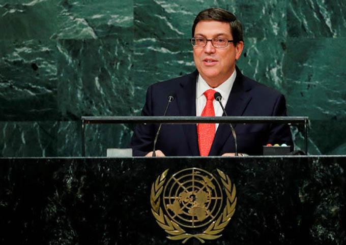 Canciller hablará hoy en la ONU en debate sobre el bloqueo de EEUU contra Cuba