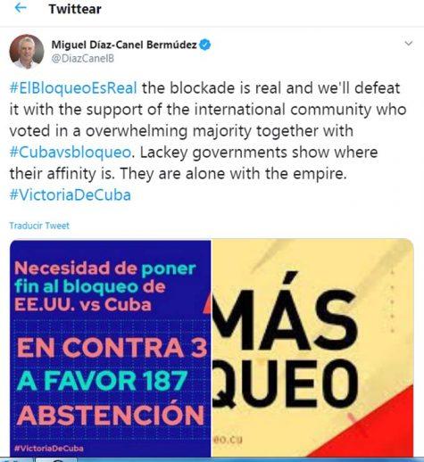 El Salvador respalda una resolución no vinculante contra el embargo a Cuba