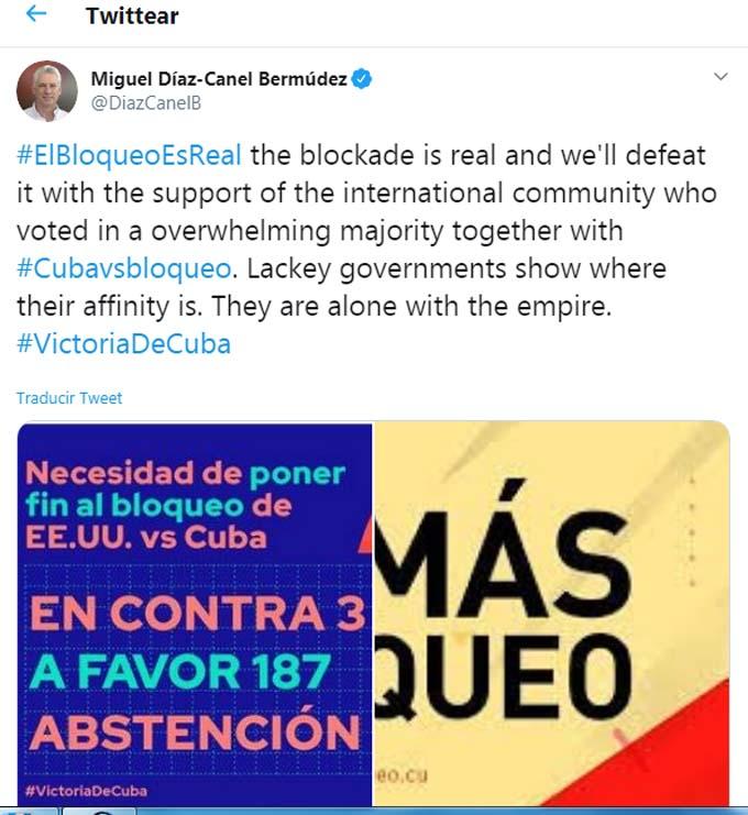 Celebra Díaz-Canel victoria de Cuba en la ONU