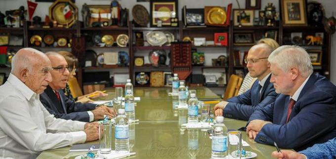 Recibió Machado al presidente del Partido Rusia Justa