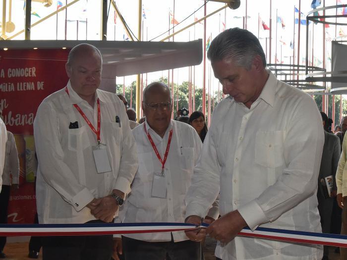 Presidente de Cuba inaugura gran feria comercial y empresarial