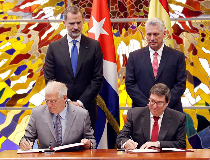 Cuba y España firman en La Habana acuerdo marco de cooperación