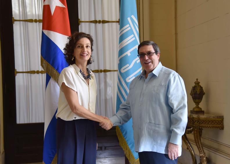 Dialogan canciller cubano y directora general de la Unesco (+fotos)