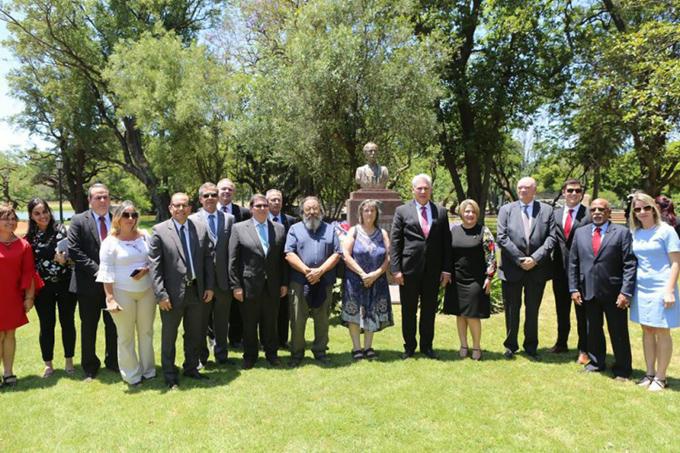 Presidente cubano Miguel Díaz-Canel con intensa visita en Argentina (+fotos)