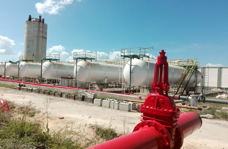 Nueva terminal de gas licuado en Cuba