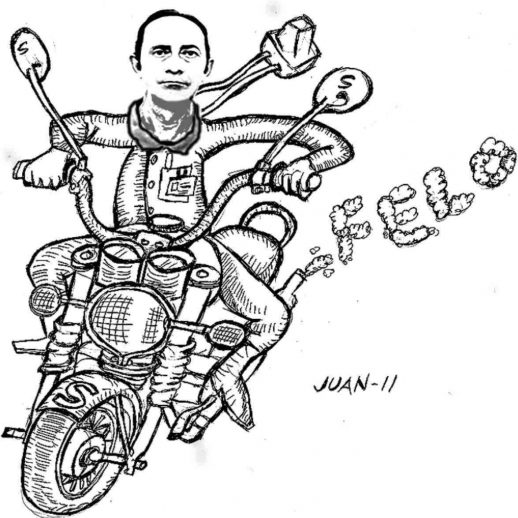 La moto de Felo