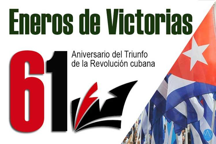 Cuba festeja aniversario 61 de triunfo de la Revolución