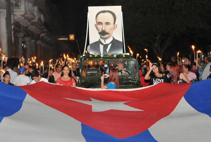 Unico homenaje digno a José Martí este 28 de enero