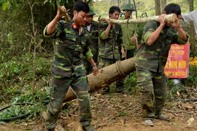 Desactivan en Vietnam otra bomba quedada de guerra contra EE.UU.