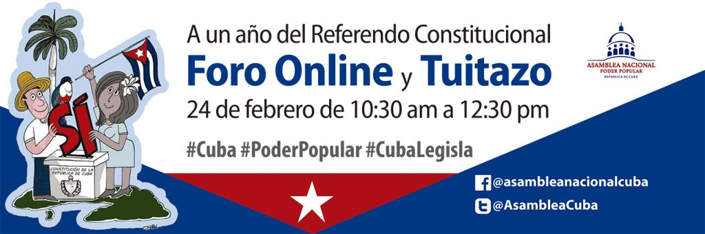 A un año del referendo constitucional se desarrolla en Cuba un intenso programa legislativo