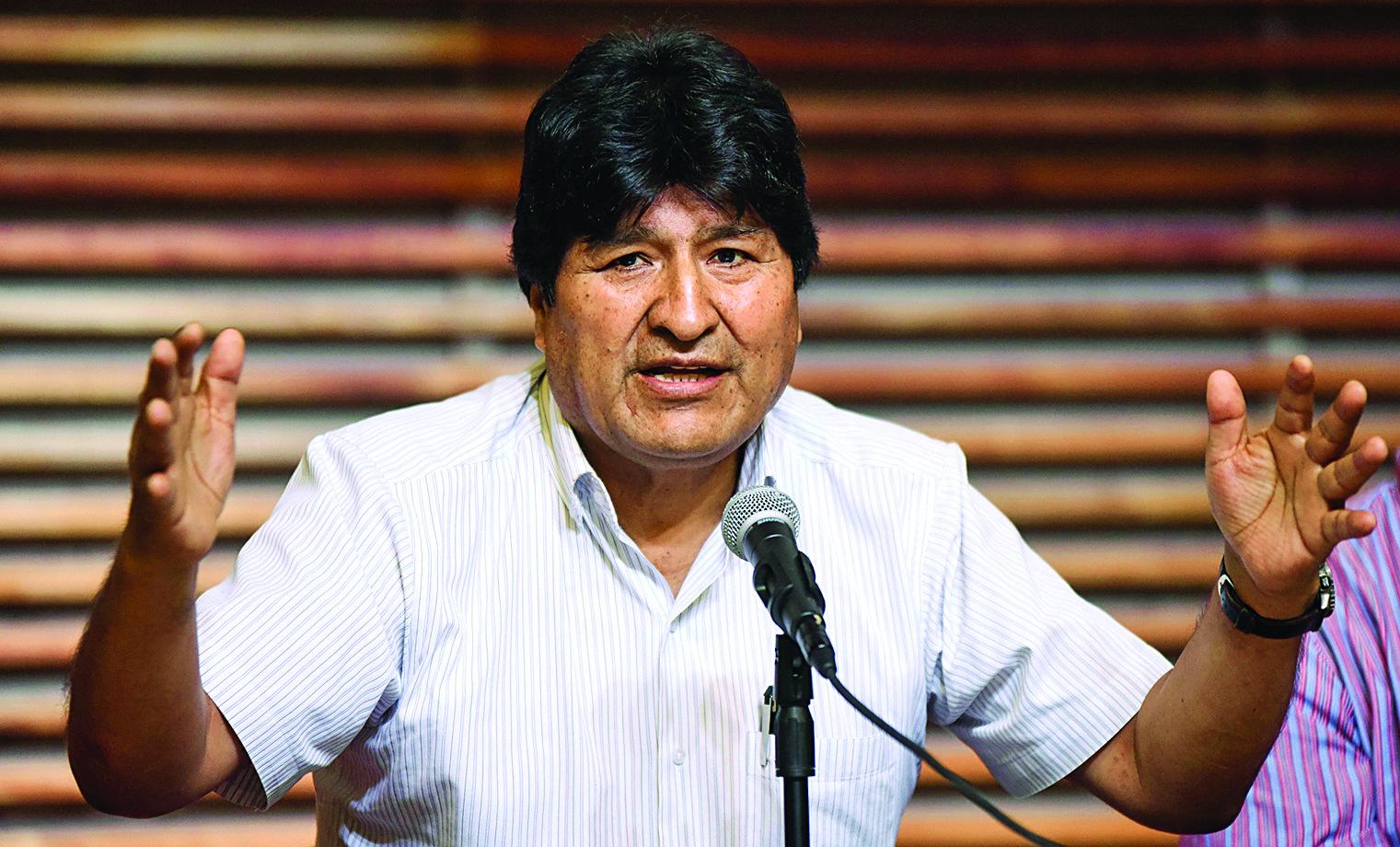 Evo Morales llama a la unidad para recuperar democracia en Bolivia