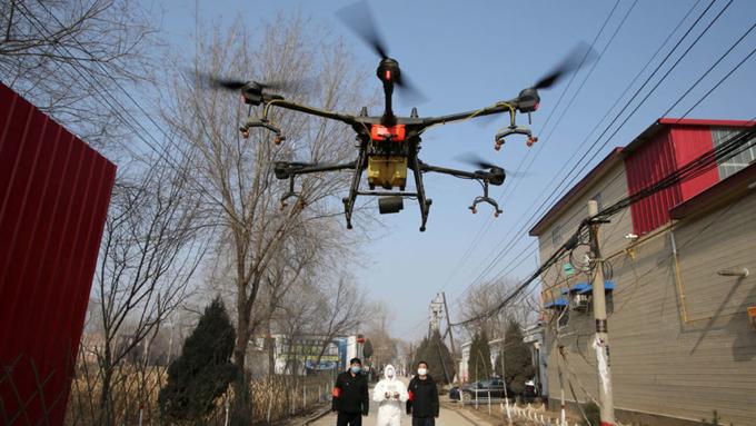 Drones se unen a la lucha contra la covid-19 en India