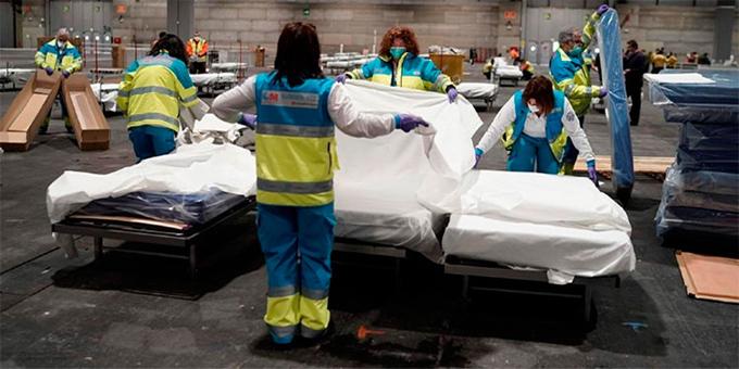 España con tres mil 434 muertes y 47 mil contagios por Covid-19