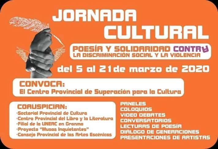 Inicia Jornada Poesía y solidaridad con la mujer