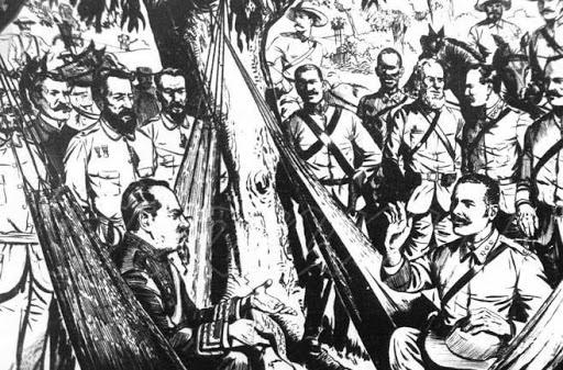 Los acompañantes de Maceo en Baraguá