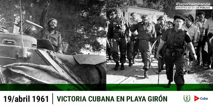 Resalta Presidente de Cuba victoria de Playa Girón