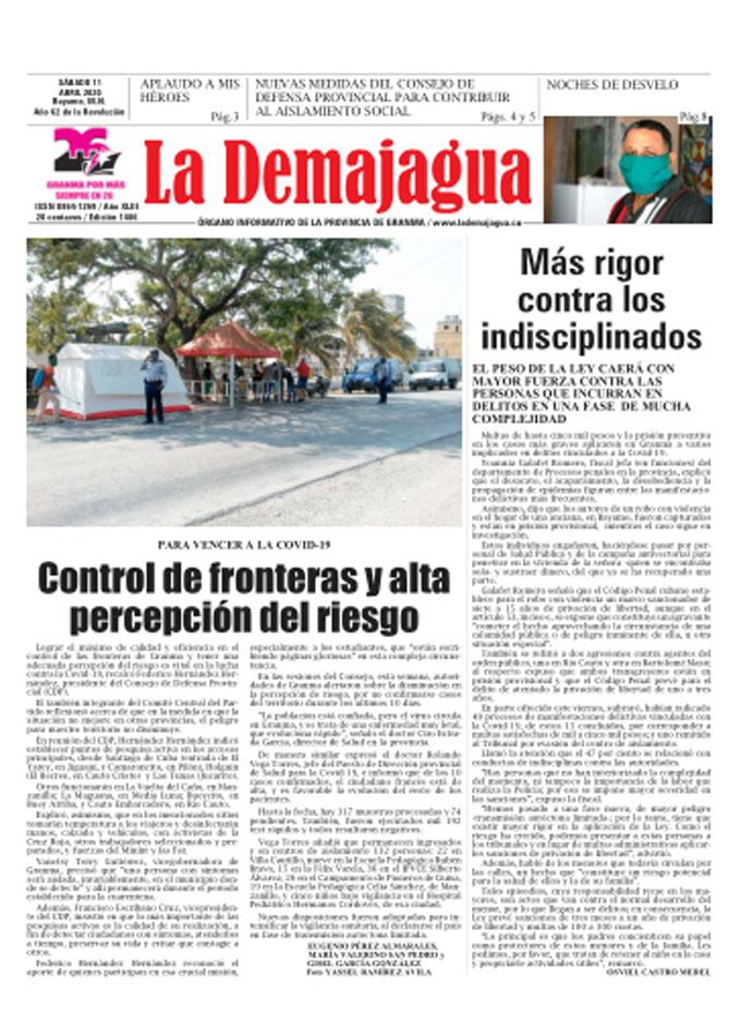 Edición impresa 1486 del semanario La Demajagua, sábado 11 de abril de 2020