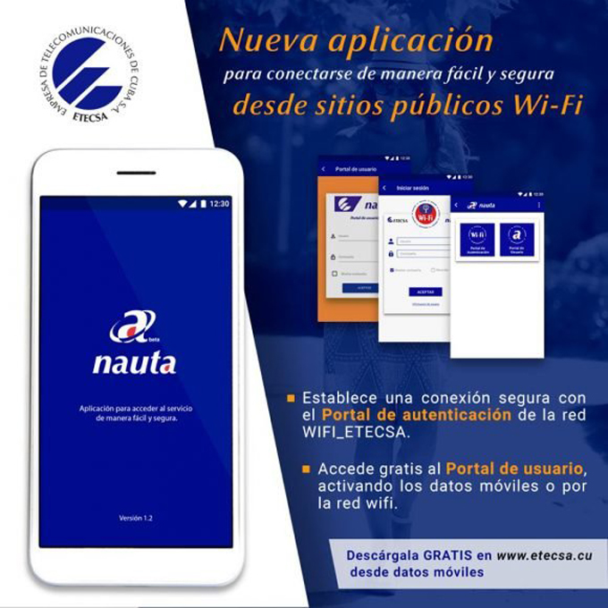 Disponible nueva versión de la aplicación nauta de ETECSA para dispositivos móviles (+video)