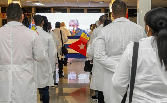 Palabras del Presidente Díaz-Canel a la brigada médica cubana que retornó de Andorra