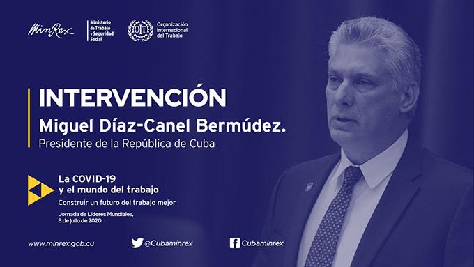 Intervención del Presidente cubano en la Cumbre Mundial de la OIT