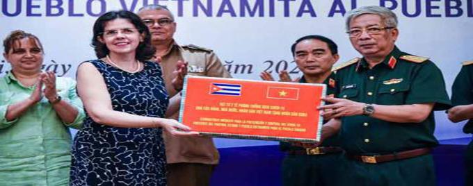 Apoya Vietnam a Cuba con donación de insumos médicos