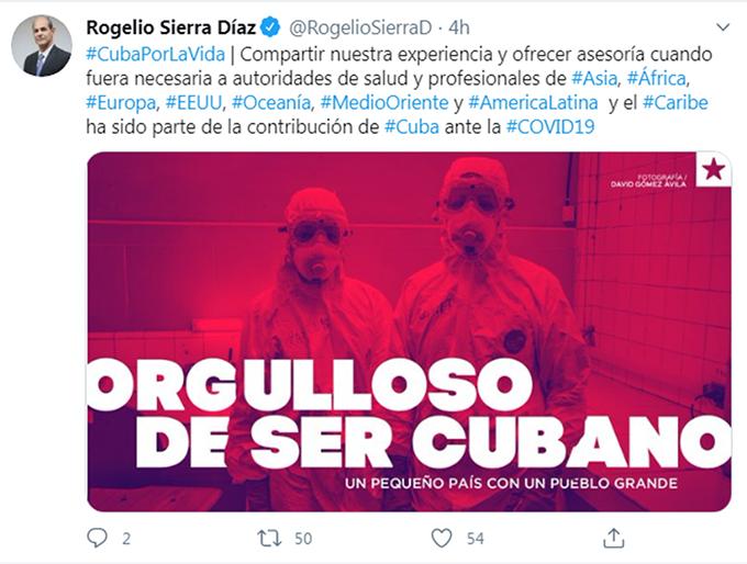 Cuba dispuesta a ofrecer asesoría a EE.UU. frente a Covid-19