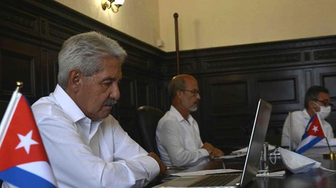 Participan diputados cubanos en conferencia interparlamentaria sobre COVID-19