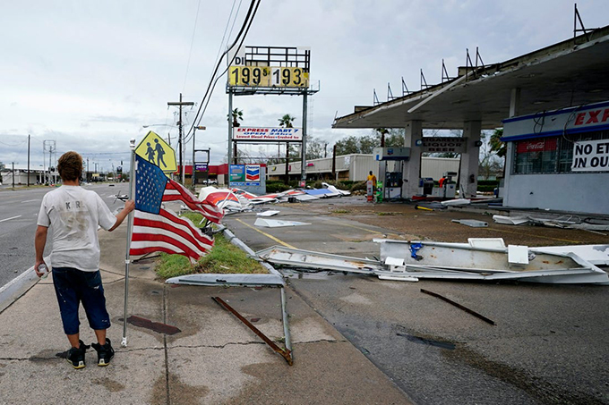 Laura, el huracán más fuerte en Luisiana, EE.UU., en más de un siglo
