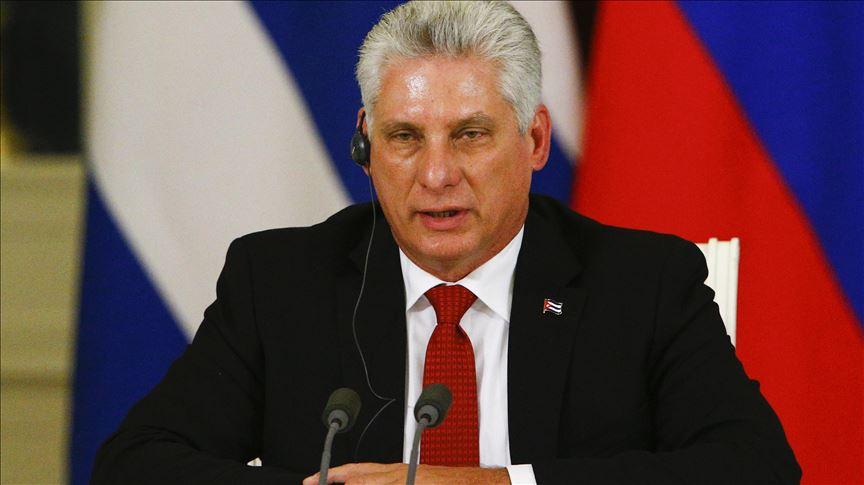 Presidente de Cuba rechaza retórica hostil de EE.UU.