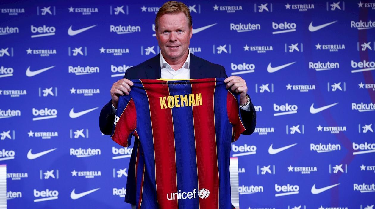 Barcelona contrata a Ronald Koeman como nuevo entrenador del club