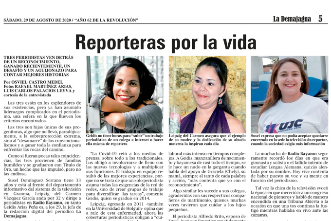 Reporteras por la vida
