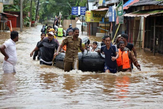 Suman siete millones los damnificados por inundaciones en India