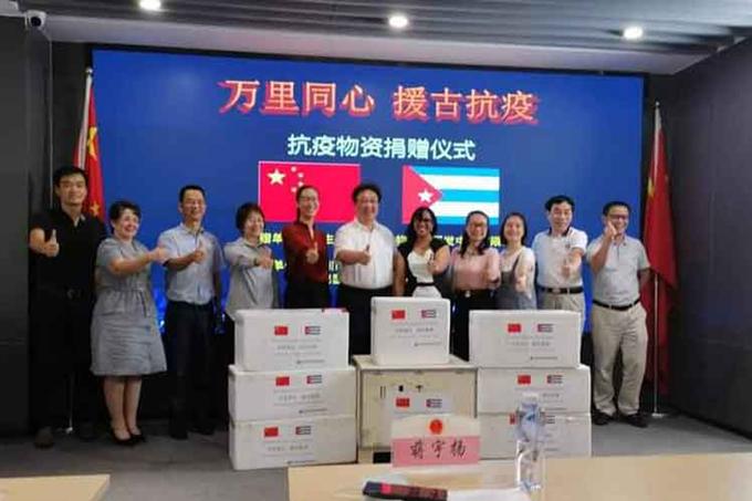 Empresa china dona insumos médicos para lucha de Cuba contra Covid-19