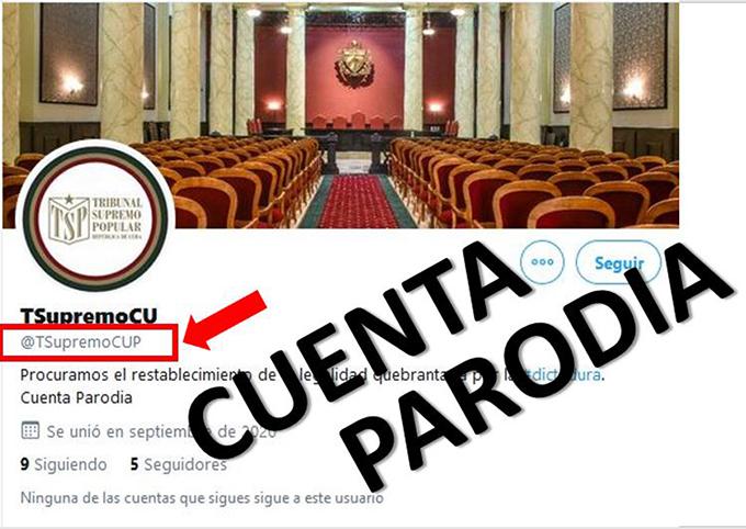 Denuncia Cuba cuenta parodia en Twitter del Tribunal Supremo Popular