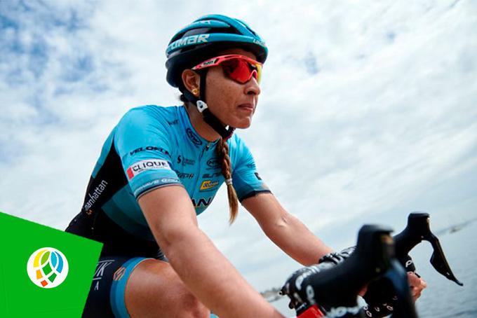 Gran jornada de ciclista Arlenis Sierra hoy en el Giro Rosa