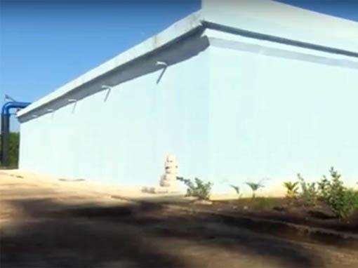 Inician pruebas de entrega de agua por nuevo tanque de acueducto de Bayamo