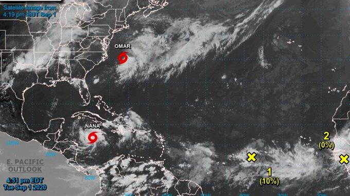 México y Centroamérica atentos a tormenta tropical Nana