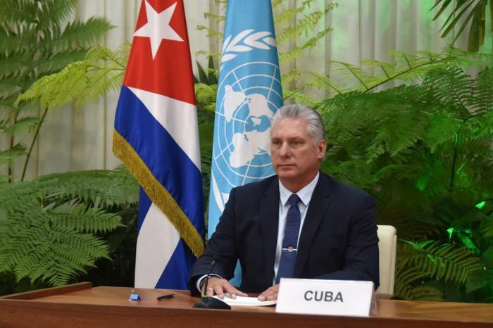 Díaz-Canel en la ONU: Cuba denuncia doble moral de Estados Unidos en el plano internacional