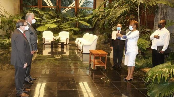 Recibió Díaz-Canel las Cartas Credenciales de ocho nuevos embajadores en Cuba