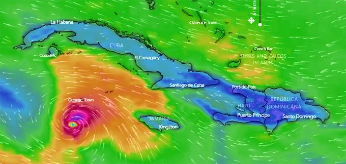 Huracán Delta gana intensidad en el mar Caribe, Cuba alerta