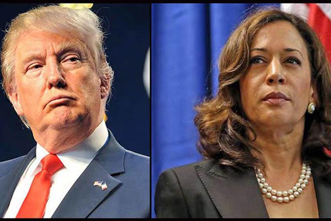 Trump y Kamala Harris de campaña en Arizona, EE.UU.