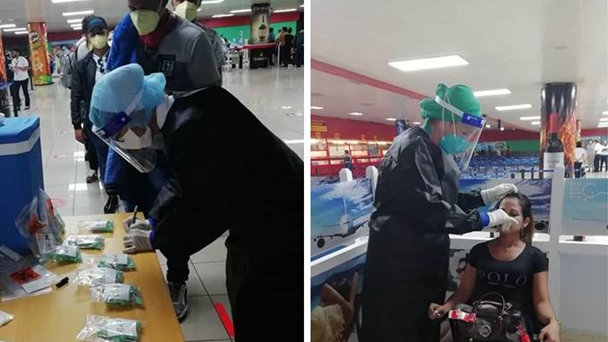 Realizan en Cuba PCR a viajeros provenientes del exterior en el propio aeropuerto